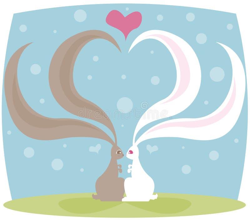królik miłości royalty ilustracja