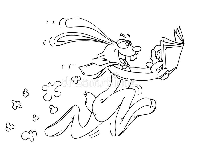 królik prędkość. ilustracji