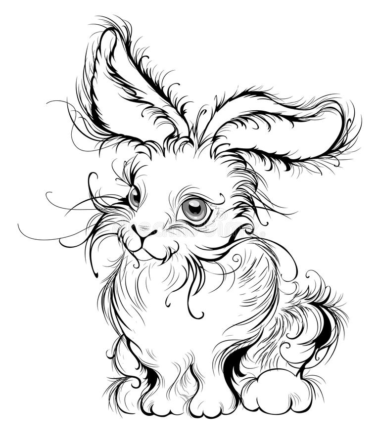 królik stylizujący ilustracji