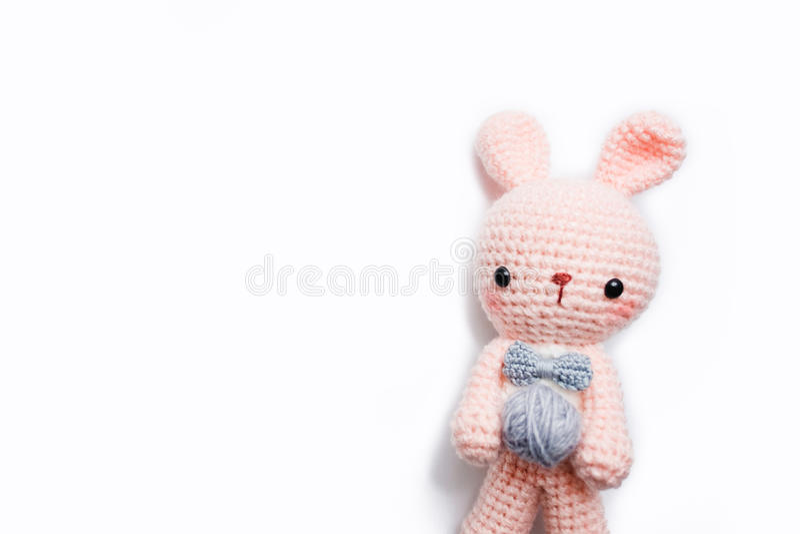 Królik szydełkowa lala zdjęcia stock