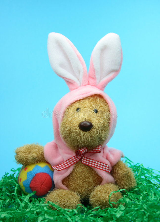 królik Wielkanoc upozorował obraz royalty free