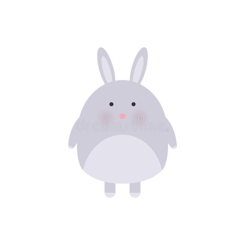 Królika śliczny druk Słodka chłopiec prysznic karta Zajęczy mody dziecka wektor Chłodno i urocza królik ilustracja dla pepiniery ilustracja wektor