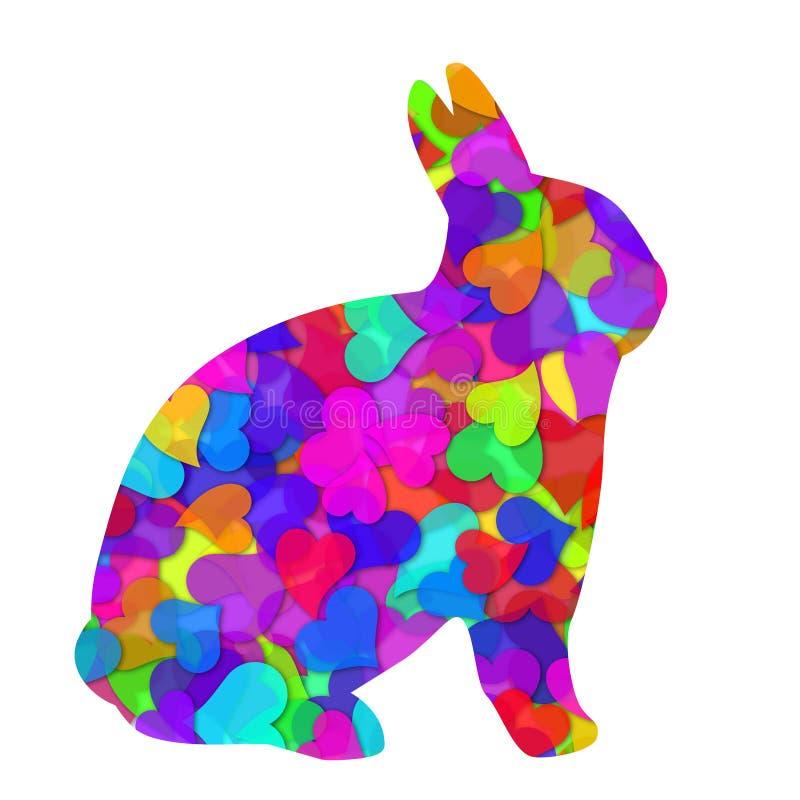 królika dzień serc ilustracyjni królika valentines ilustracji