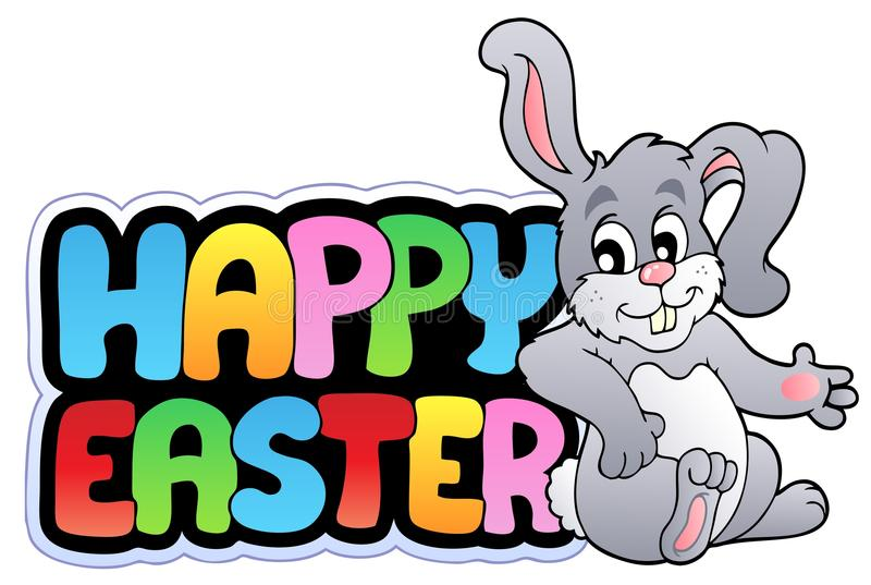 królika Easter szczęśliwy znak ilustracji