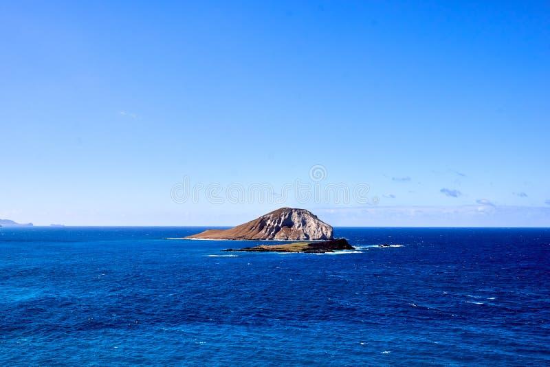 Królika i żółwia wyspa blisko Makapu «u plaża w Hawaje, usa zdjęcia royalty free