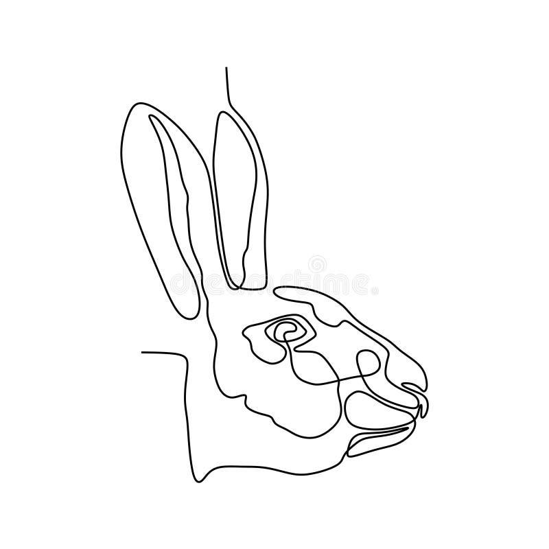 Królika jeden kreskowy rysunek royalty ilustracja
