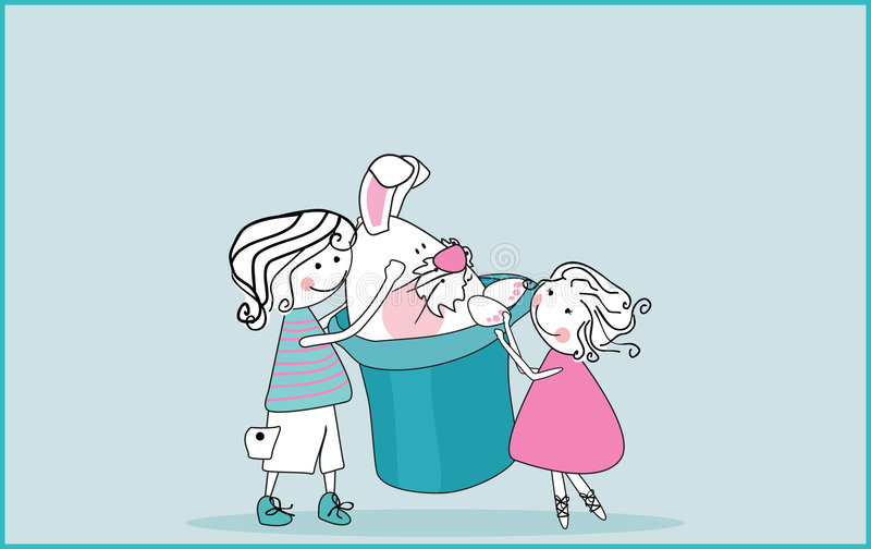 królika kapeluszu wierzchołek ilustracja wektor