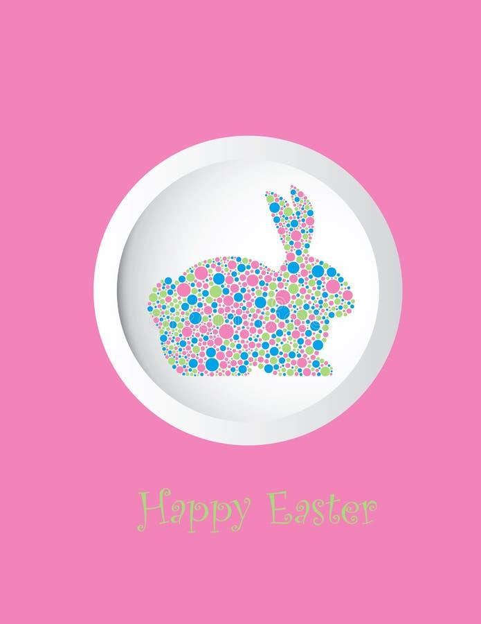 Królika królika pastel Kropkuje kartka z pozdrowieniami royalty ilustracja