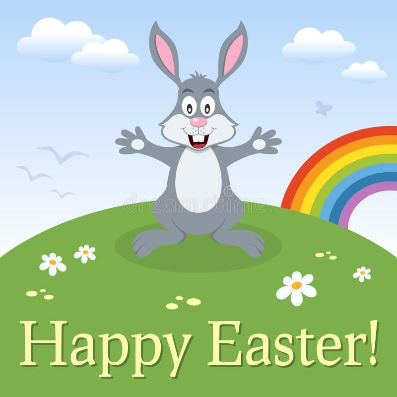 Królika królika Szczęśliwa Wielkanocna karta royalty ilustracja