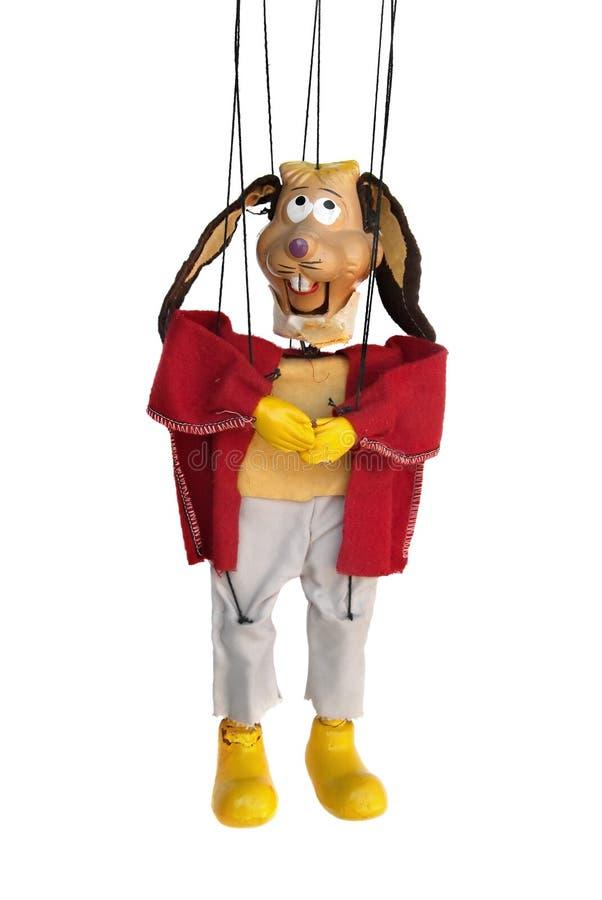 królika marionetkowy rocznik fotografia stock