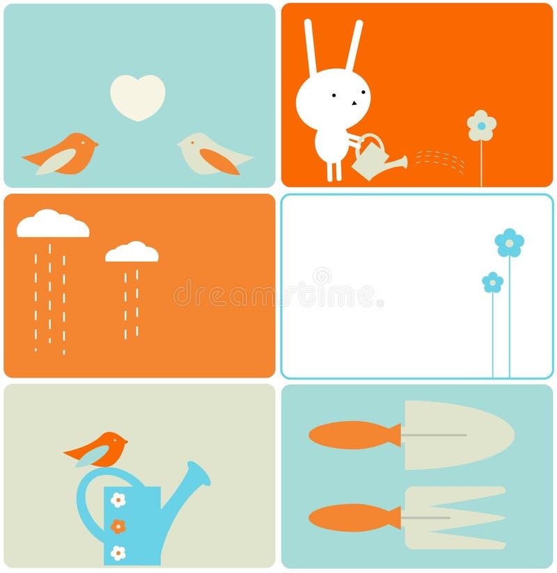 królika ogród ilustracja wektor