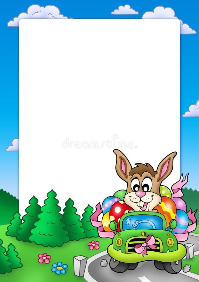 królika samochodowa napędowa Easter rama royalty ilustracja