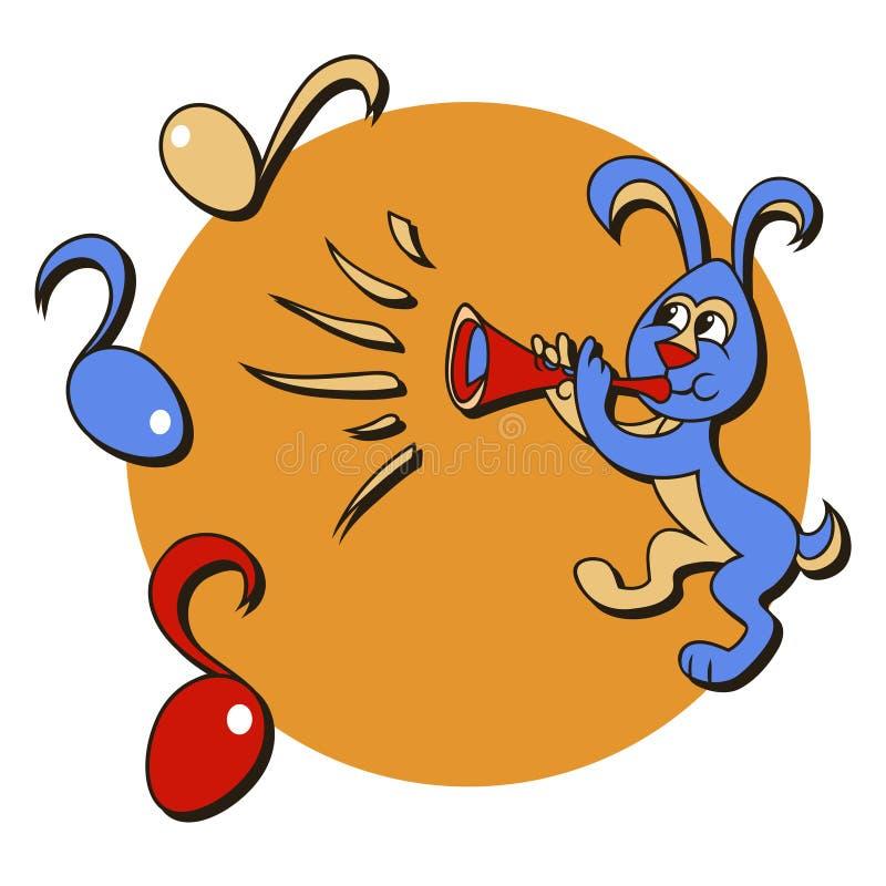 królika trąbkarz ilustracja wektor
