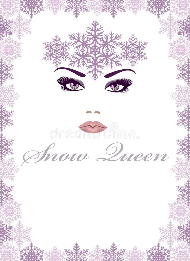 królowa śnieg royalty ilustracja