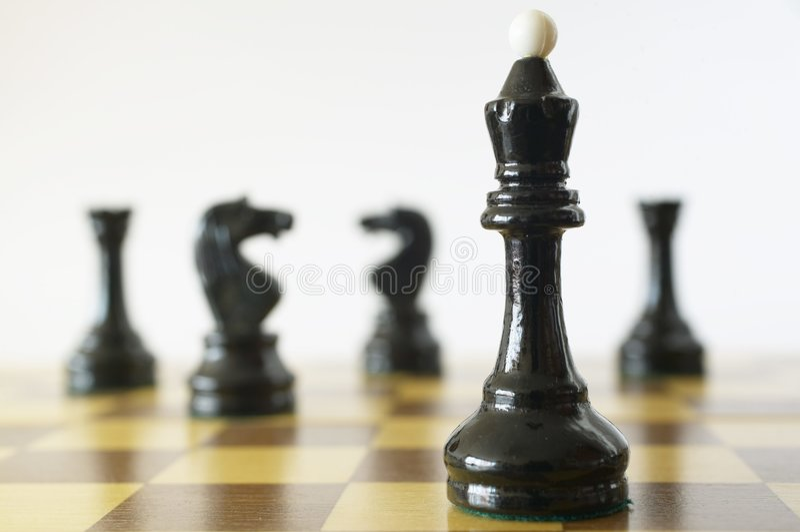 królowa chess fotografia stock