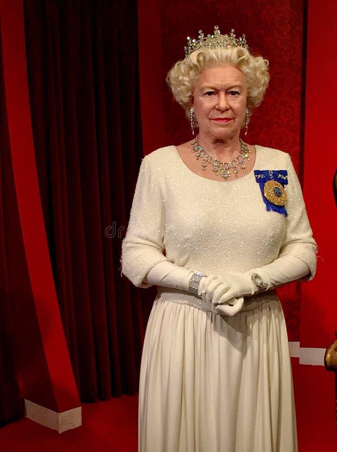 Królowa Elżbieta II figury woskowej model obraz royalty free