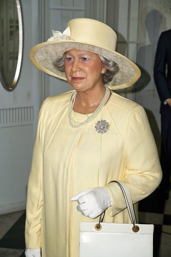 Królowa Elżbieta II wosku postać obrazy stock