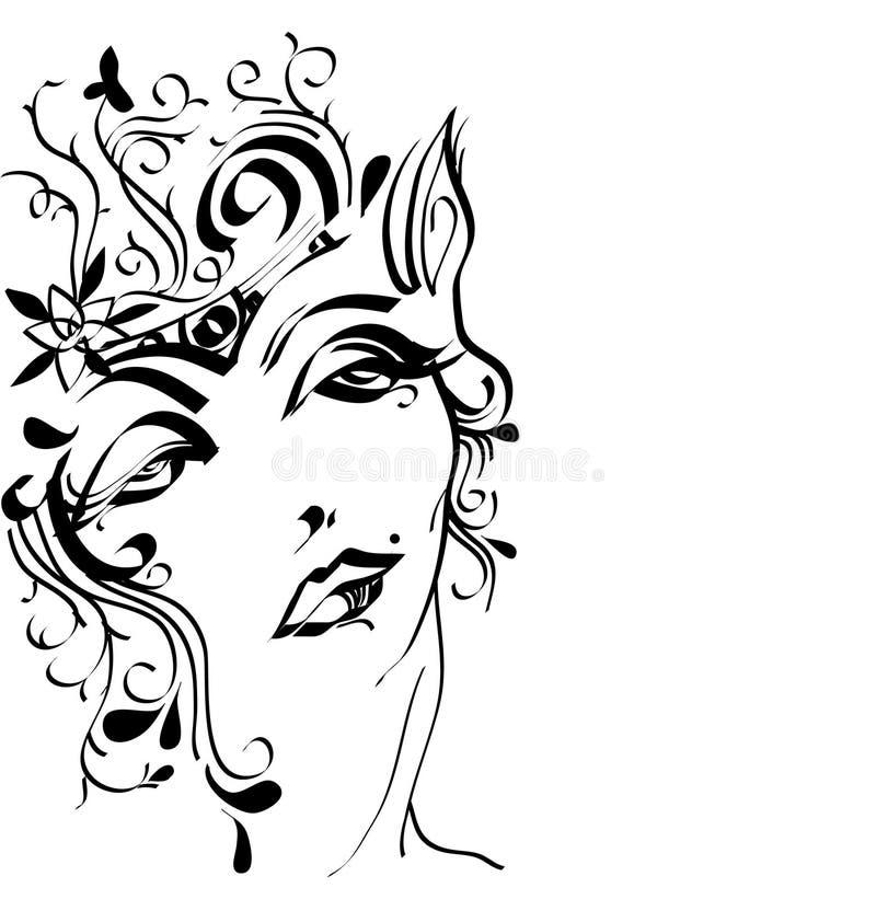 królowa elf royalty ilustracja