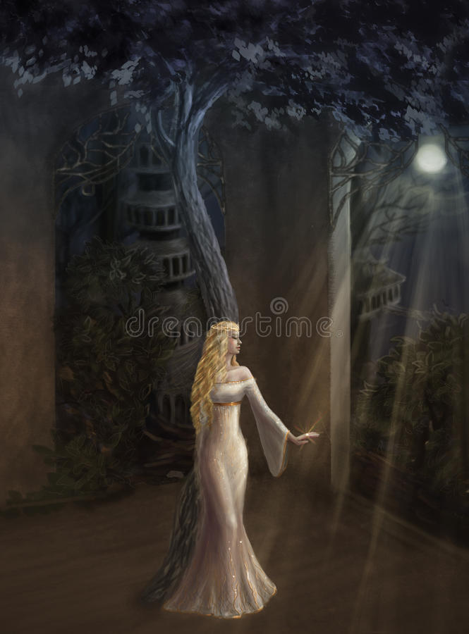 Królowa elfy royalty ilustracja