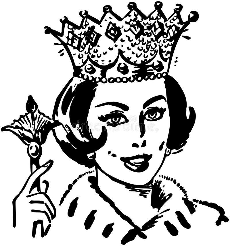 Królowa gospodarstwo domowe royalty ilustracja