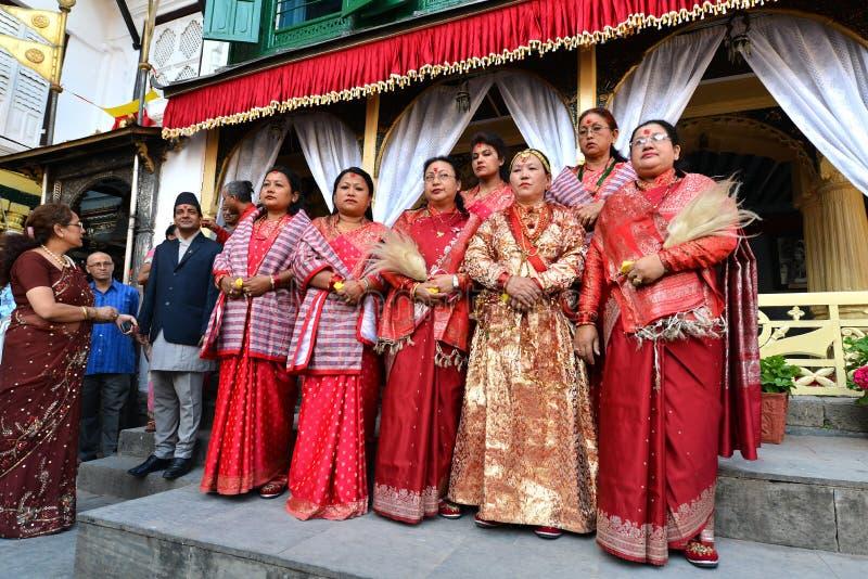 Królowa i Królewskie damy Nepal fotografia stock