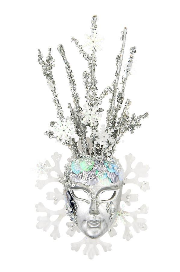 królowa maskowy śnieg zdjęcie stock
