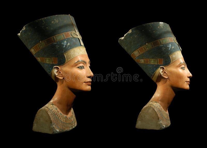 Królowa Nefertiti Odizolowywający na Czerń obrazy royalty free