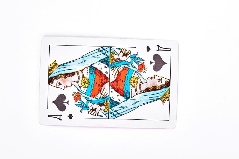 Królowa rydla karta do gry obrazy royalty free