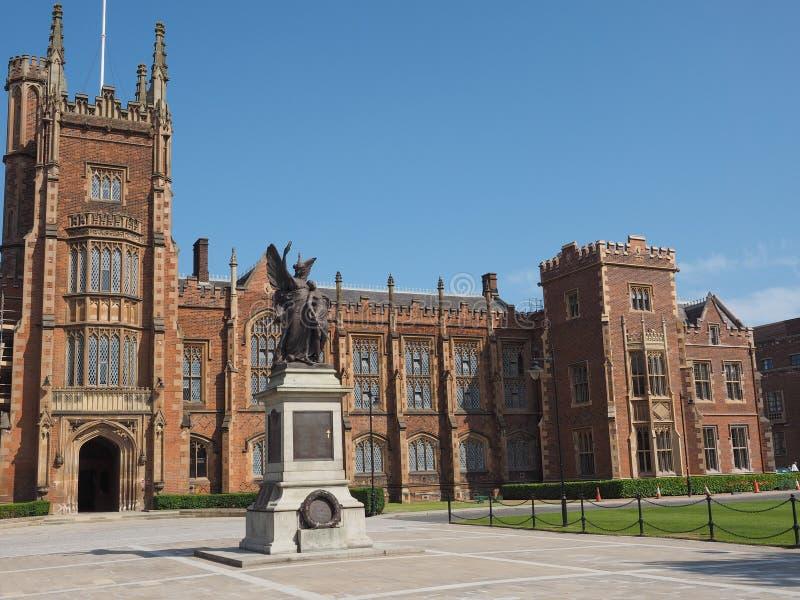 Królowa uniwersytet w Belfast fotografia royalty free