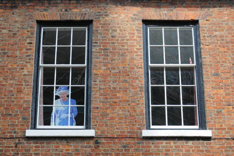 Królowa W Okno Obraz Stock Editorial