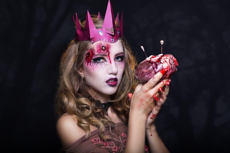 Królowa z sercem obraz royalty free