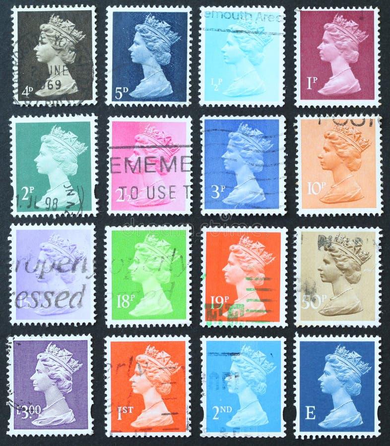 królowa znaczki obraz stock