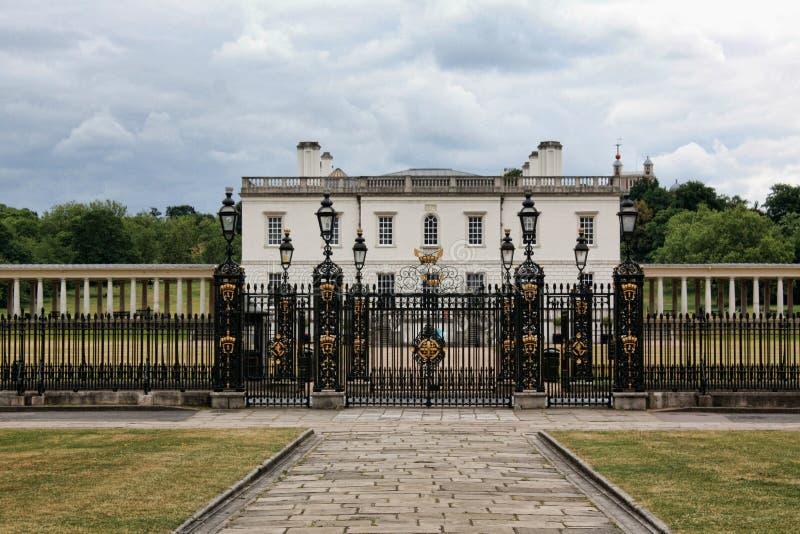 Królowej Domowy Greenwich Londyn obraz royalty free