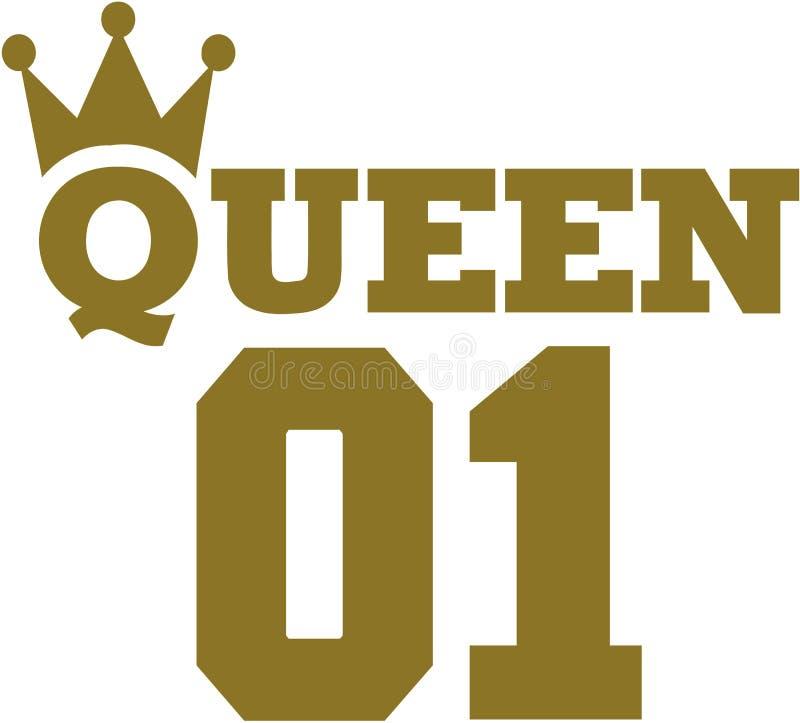 Królowej 01 korona ilustracja wektor