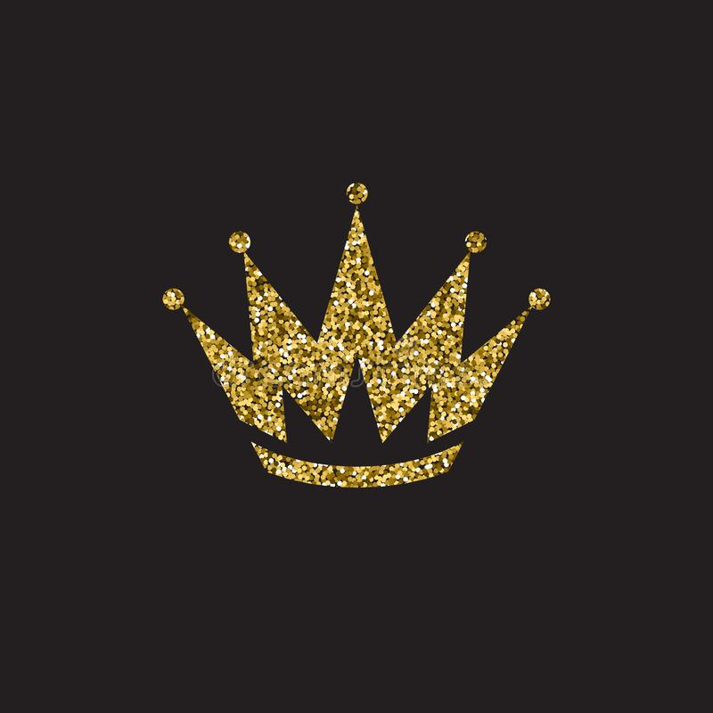 Królowej korona, królewski złocisty pióropusz Królewiątka złoty akcesorium Odosobnione wektorowe ilustracje Elita klasowy symbol  royalty ilustracja