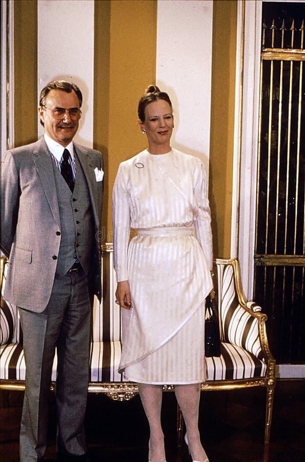 KRÓLOWEJ MARGTRETHE 50 YEARA urodziny rocznica obrazy royalty free