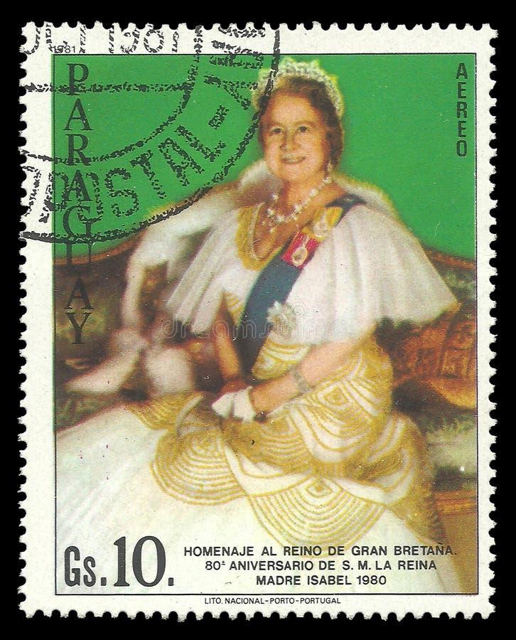 Królowej matka Elizabeth obrazy royalty free