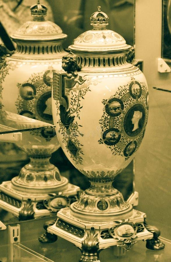 Królowej Wiktoria Diamentowego jubileuszu wazy obraz stock