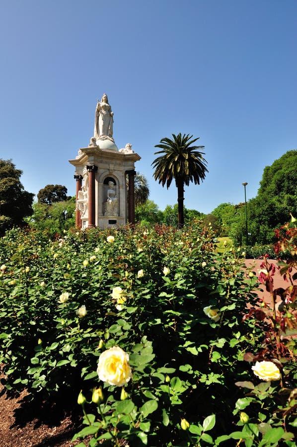 Królowej Wiktoria pomnika ogród zdjęcie royalty free