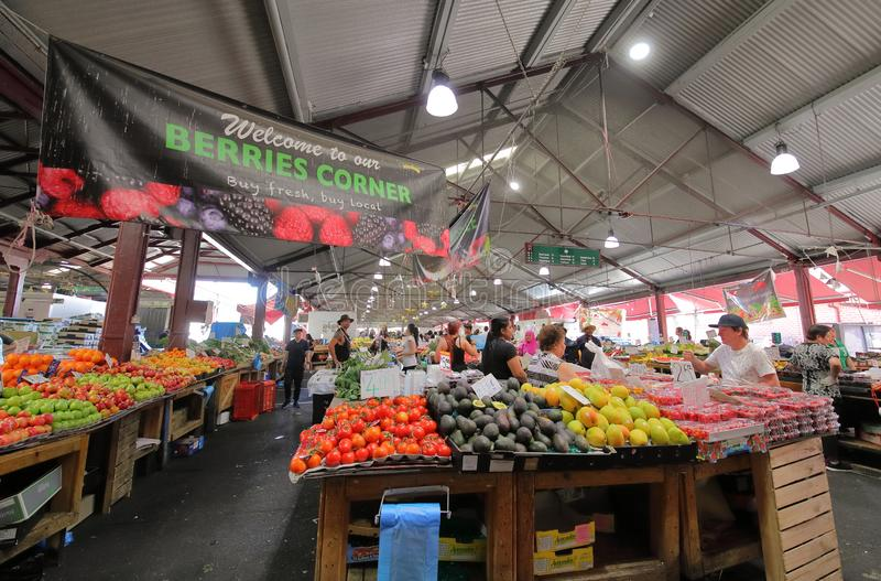 Królowej Wiktoria rynek Melbourne Australia obraz stock
