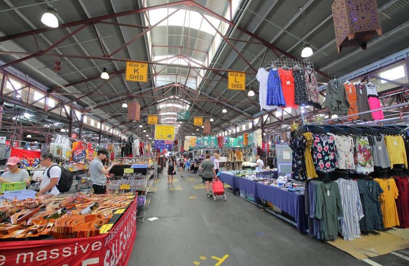 Królowej Wiktoria rynek Melbourne Australia zdjęcia stock