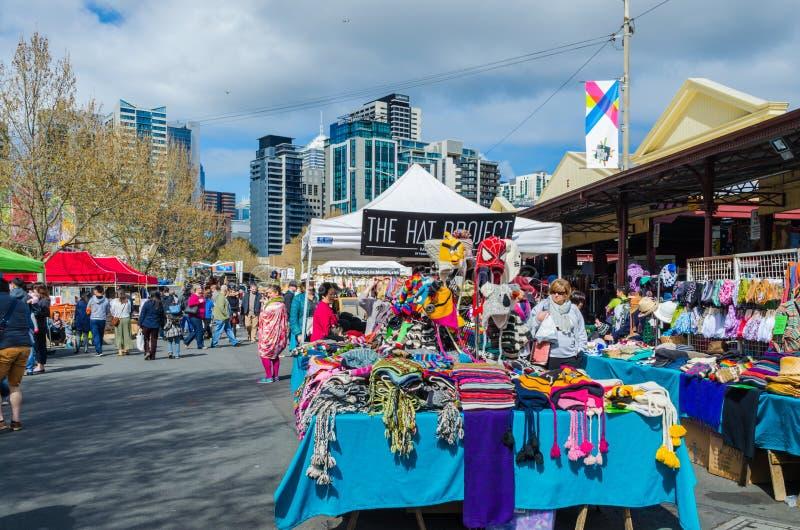 Królowej Wiktoria rynek, Melbourne, Australia fotografia royalty free