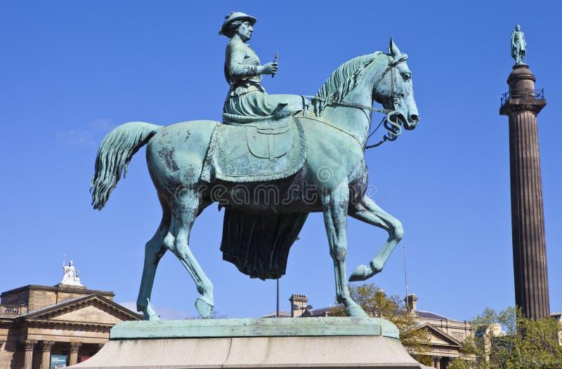 Królowej Wiktoria statua w Liverpool zdjęcie stock
