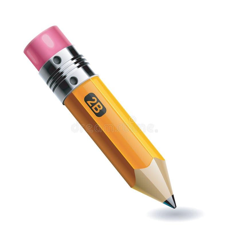 Krótki ołówek royalty ilustracja