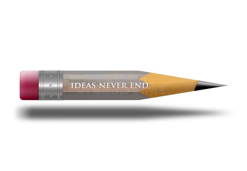 krótki ołówek ilustracja wektor