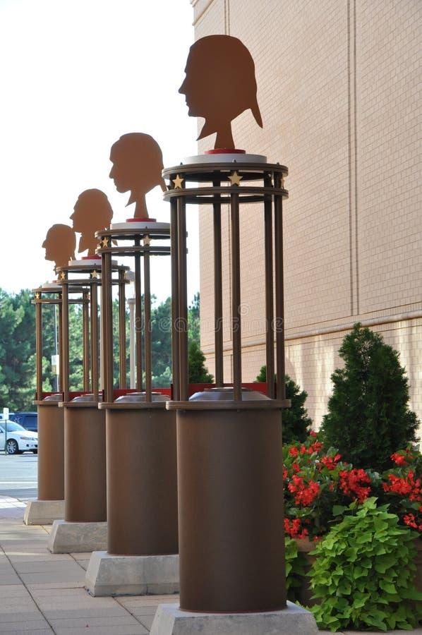 Krótki Pompowy Grodzki centrum w Virginia zdjęcie stock