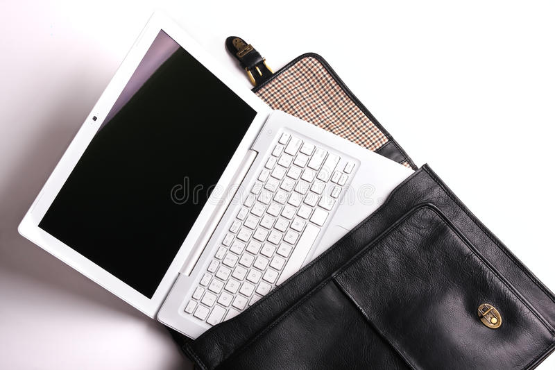 krótkiej skrzynka laptop obraz royalty free