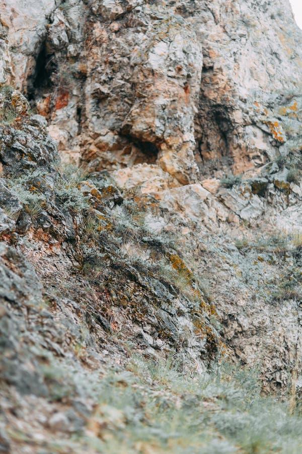 Krökningarna av floden och de härliga klipporna royaltyfria foton