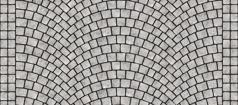 Krökt kullerstentextur 072 för väg royaltyfri illustrationer