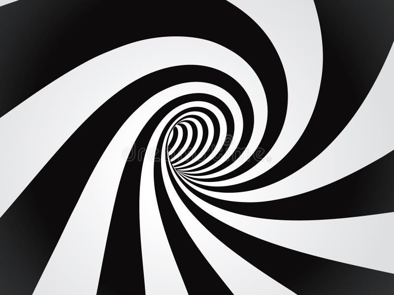 krökt tunnel royaltyfri illustrationer